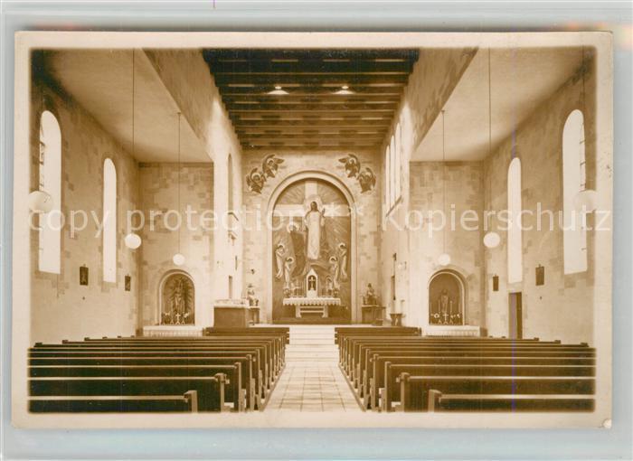 AK / Ansichtskarte Reichenbach_Donzdorf Kirche Hochaltarbild Kunstmaler Karl M. Lechner Reichenbach Donzdorf 0