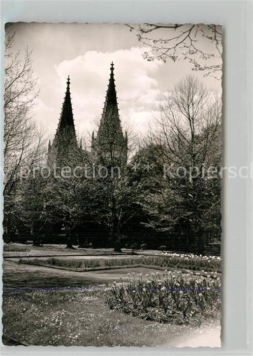 AK / Ansichtskarte Goeppingen Parkanlagen Oberhofenkirche Goeppingen