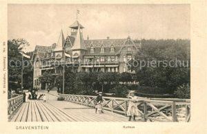 AK / Ansichtskarte Gravenstein Kurhaus Seebruecke Gravenstein