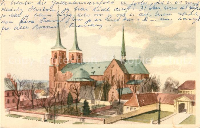 AK / Ansichtskarte Roskilde Domkirken Roskilde