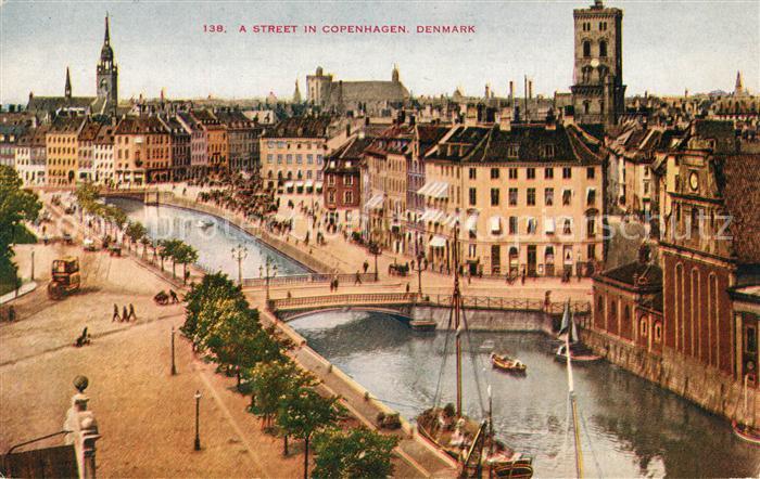 AK / Ansichtskarte Kobenhavn A Street Panorama Kobenhavn