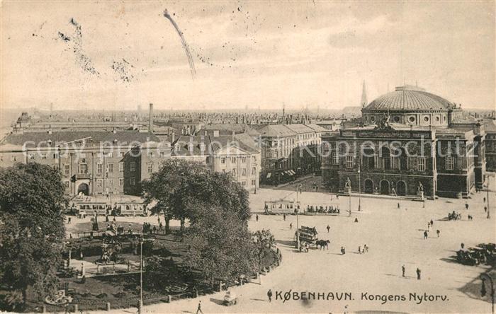 AK / Ansichtskarte Kobenhavn Kongens Nytorv Kobenhavn