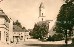 AK / Ansichtskarte Brambach_Bad Karl Liebknecht Platz Kirche Brambach_Bad