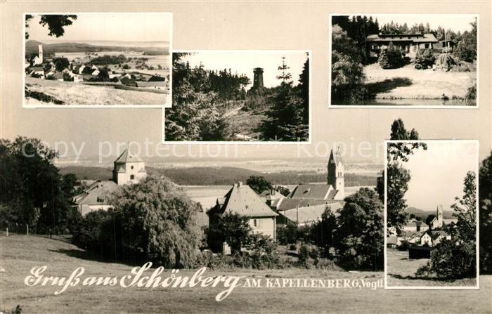 AK / Ansichtskarte Schoenberg_Vogtland Kapellenberg Panoramen Schoenberg_Vogtland
