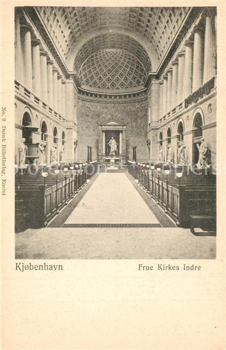 AK / Ansichtskarte Kobenhavn Frue Kirkes Indre Kobenhavn