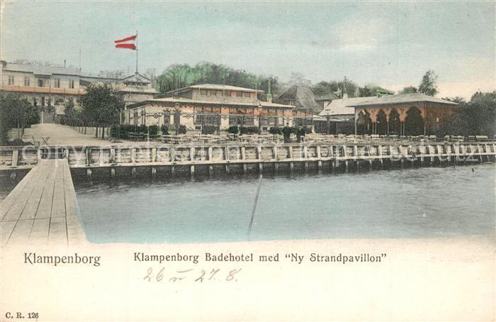 AK / Ansichtskarte Klampenborg Badehotel Ny Strandpavillon Klampenborg