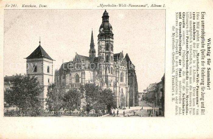 AK / Ansichtskarte Kaschau Dom  Kaschau