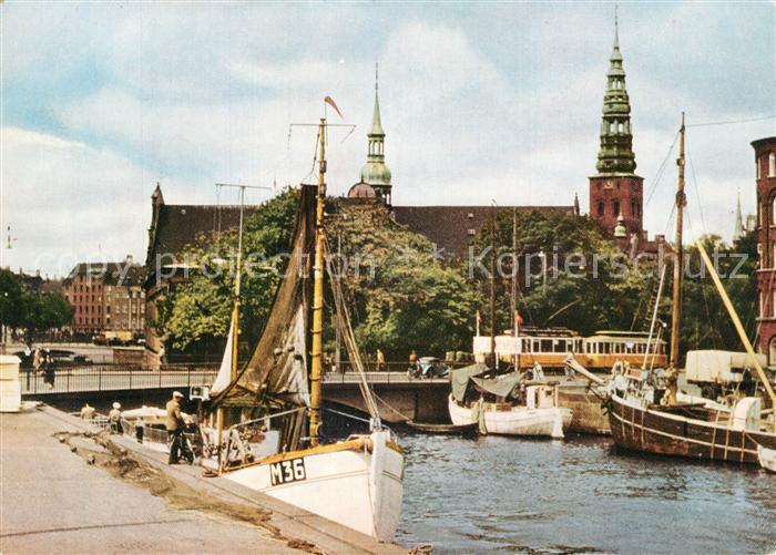 AK / Ansichtskarte Kobenhavn Kanal Holmens Kirke Kobenhavn