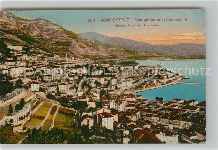 AK / Ansichtskarte Monte Carlo Panorama Condamine Monte Carlo