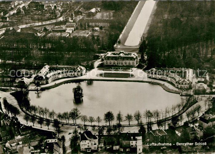 AK / Ansichtskarte Benrath Benrather Schloss Fliegeraufnahme Benrath