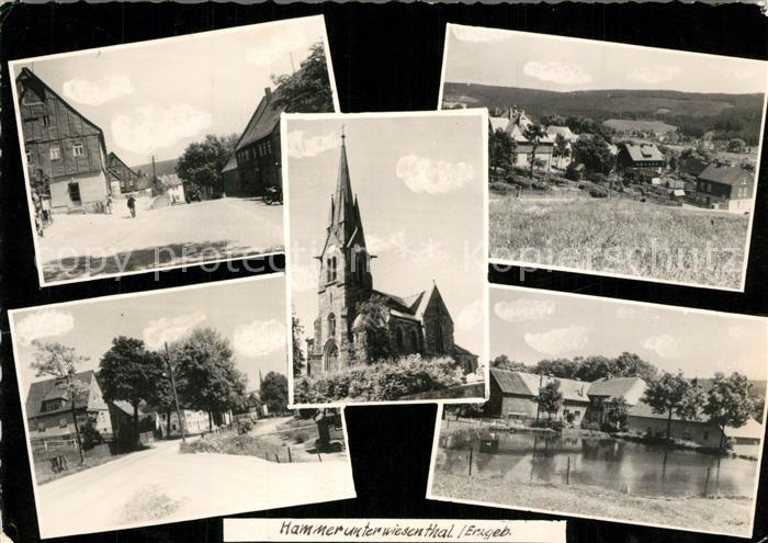 AK / Ansichtskarte Hammerunterwiesenthal Kirche Ortsansichten Hammerunterwiesenthal