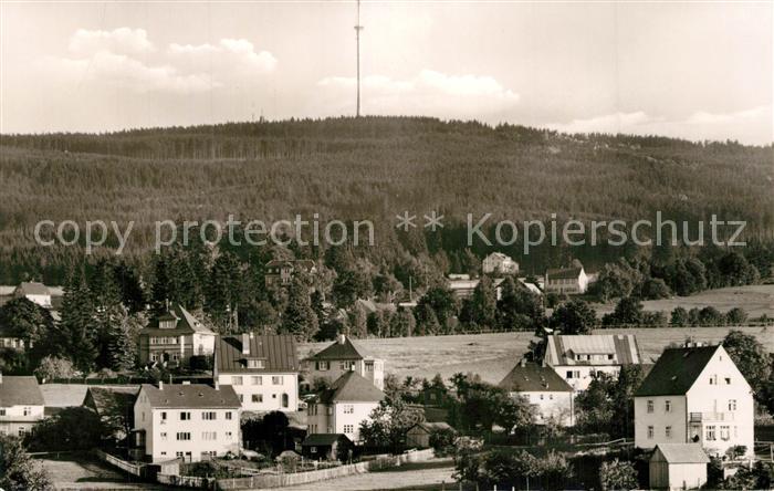 AK / Ansichtskarte Bischofsgruen Blick zum Fernsehturm auf dem Ochsenkopf Bischofsgruen