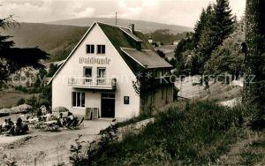 AK / Ansichtskarte Warmensteinach Pension und Gaststaette Waldbaude Warmensteinach