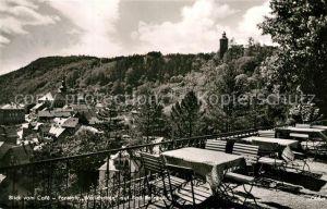 AK / Ansichtskarte Bad_Berneck Cafe Pension Wallenrode Terrasse Bad_Berneck