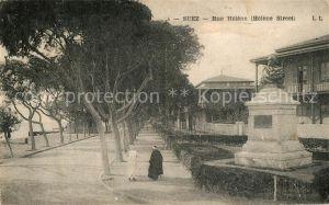 AK / Ansichtskarte Suez Rue Helene Monument Suez