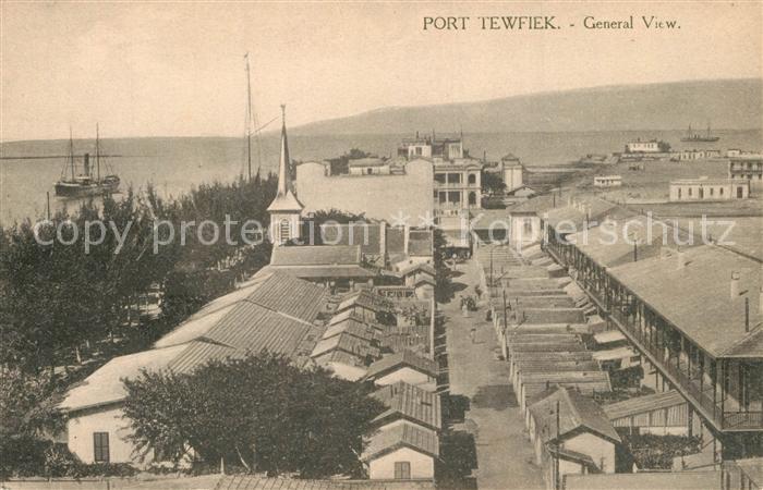 AK / Ansichtskarte Port_Tewfik General view Port Tewfik