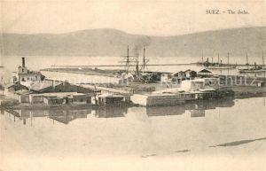 AK / Ansichtskarte Suez The docks Suez