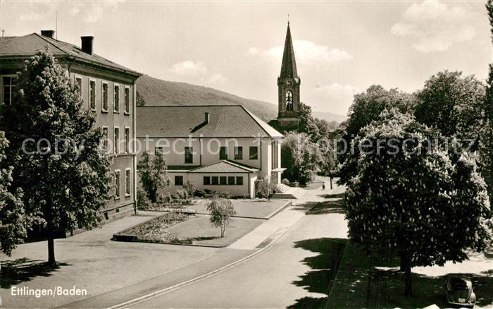AK / Ansichtskarte Ettlingen Kirche Stadthalle Friedrichstrasse Ettlingen 0
