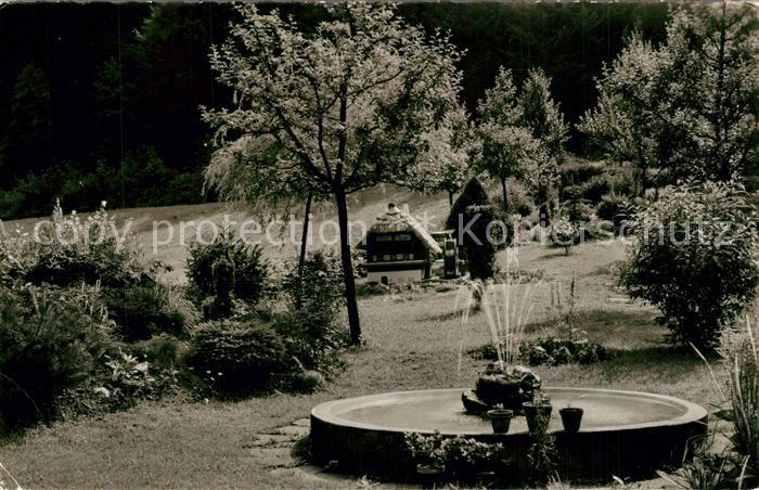 AK / Ansichtskarte Marxzell Waldhotel Bergschmiede Holzbachtal Brunnen Marxzell