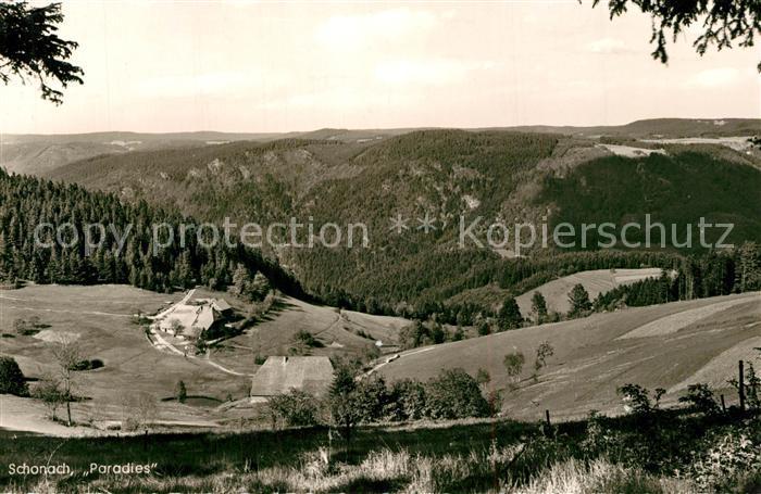 AK / Ansichtskarte Schonach_Schwarzwald Paradies Schonach Schwarzwald 0