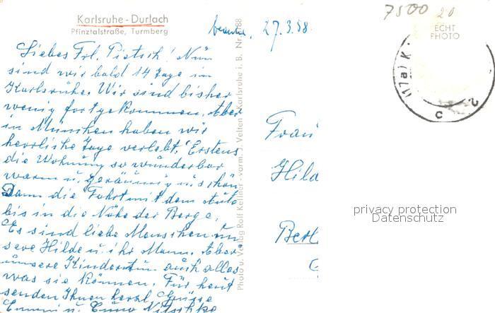 AK / Ansichtskarte Durlach Pfinztalstrasse Turmberg Durlach 1