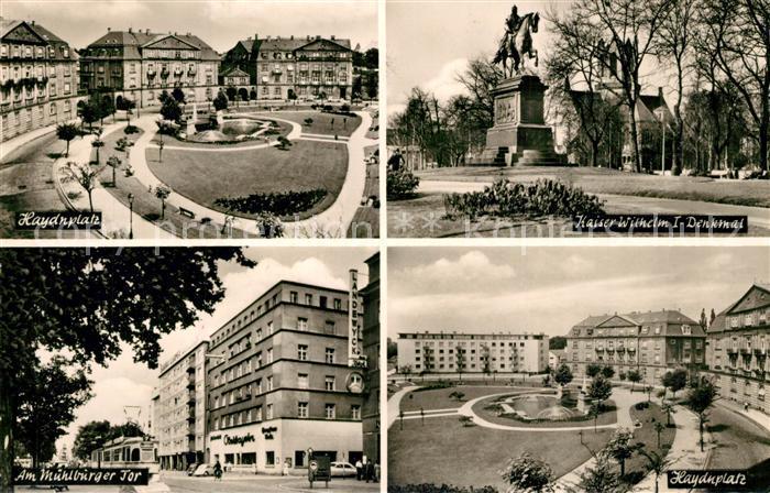 AK / Ansichtskarte Karlsruhe_Baden Haydnplatz Kaiser Wilhelm I Denkmal Karlsruhe_Baden 0