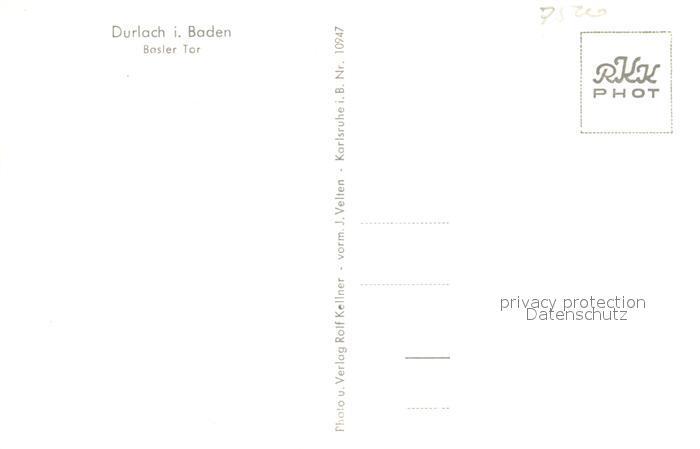 AK / Ansichtskarte Durlach Basler Tor Durlach 1
