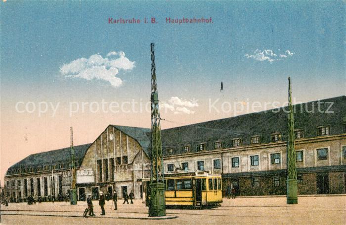 AK / Ansichtskarte Karlsruhe_Baden Hauptbahnhof Karlsruhe_Baden 0
