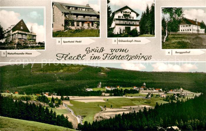 AK / Ansichtskarte Fleckl Nnaturfreundehaus Sporthotel Fleckl Ochsenkopf Haus Berggasthof Fleckl