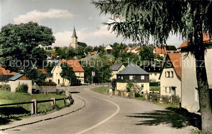 AK / Ansichtskarte Fichtelberg_Bayreuth Strassenpartie Kirche Fichtelberg Bayreuth 0