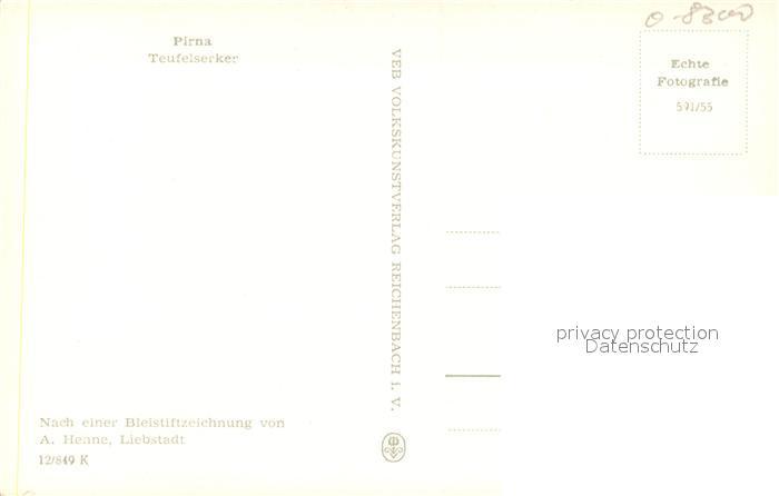 AK / Ansichtskarte Pirna Teufelserker Zeichnung Pirna 1