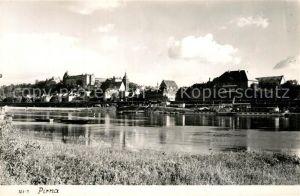 AK / Ansichtskarte Pirna Partie an der Elbe Pirna