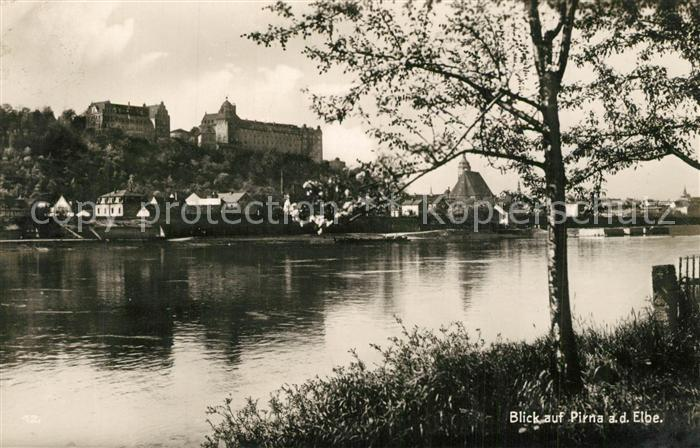 AK / Ansichtskarte Pirna Partie an der Elbe Pirna 0