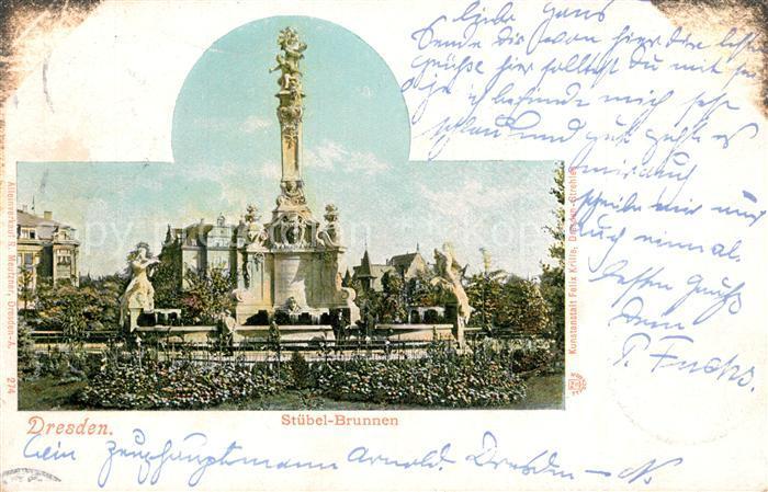 AK / Ansichtskarte Dresden Stuebel Brunnen Dresden 0
