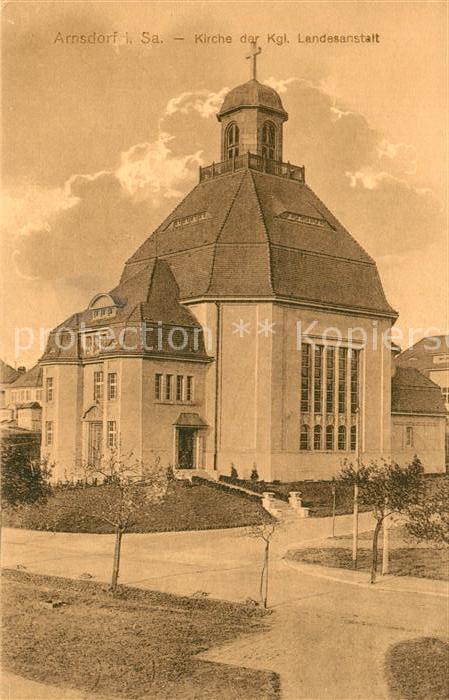 AK / Ansichtskarte Arnsdorf_Dresden Kirche der Kgl Landesanstalt Arnsdorf Dresden
