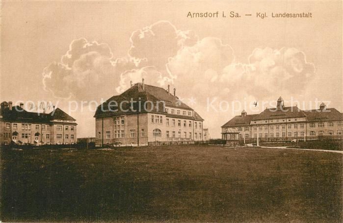 AK / Ansichtskarte Arnsdorf_Dresden Kgl Landesanstalt Arnsdorf Dresden