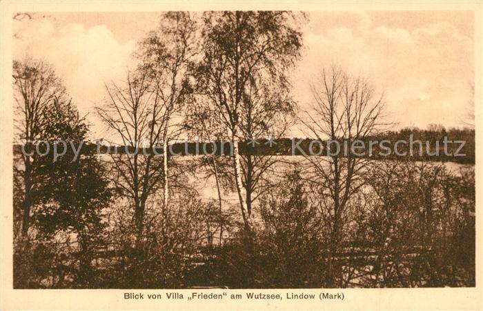AK / Ansichtskarte Lindow_Mark Blick von Villa Frieden am Wutzsee Lindow Mark 0