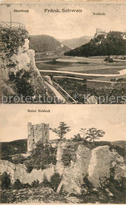 AK / Ansichtskarte Fraenkische_Schweiz Streitburg Neideck Ruine Neideck Fraenkische Schweiz 0