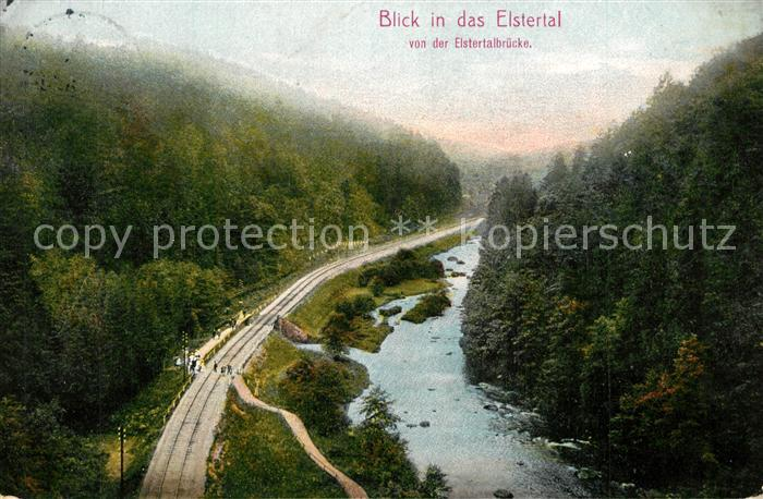 AK / Ansichtskarte Bad_Koestritz Blick von der Elstertalbruecke ins Elstertal Bad_Koestritz 0