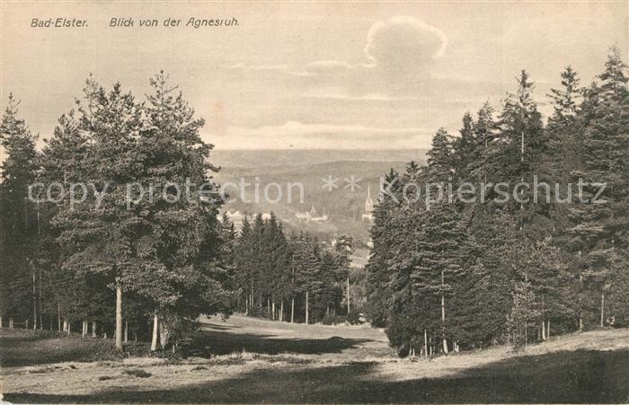 AK / Ansichtskarte Bad_Elster Blick von der Agnesruh Bad_Elster 0
