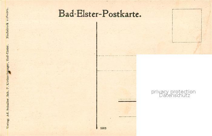 AK / Ansichtskarte Bad_Elster Blick von der Agnesruh Bad_Elster 1