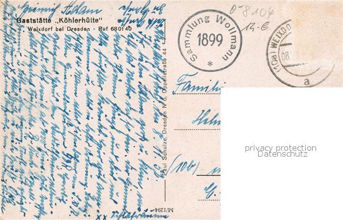 AK / Ansichtskarte Weixdorf Gaststaette Koehlerhuette Weixdorf 1