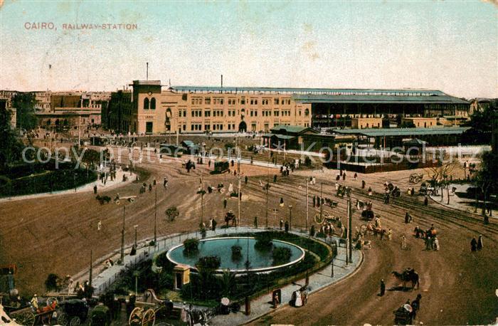 AK / Ansichtskarte Cairo_Egypt Railway Station Cairo Egypt 0