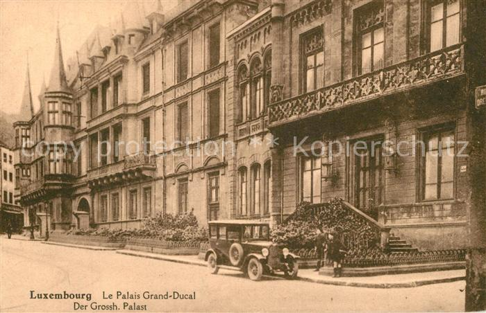 AK / Ansichtskarte Luxembourg_Luxemburg Palais Grand Ducal Palast Luxembourg Luxemburg 0