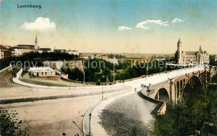AK / Ansichtskarte Luxembourg_Luxemburg Panorama Pont Luxembourg Luxemburg 0