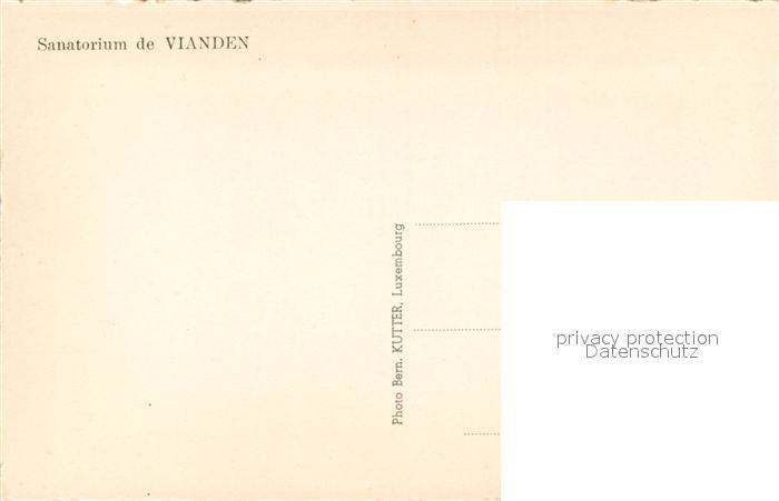 AK / Ansichtskarte Vianden Sanatorium Refectoire Vianden 1