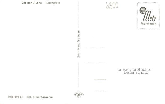 AK / Ansichtskarte Giessen_Lahn Kirchplatz Universitaetsstadt Giessen_Lahn 1