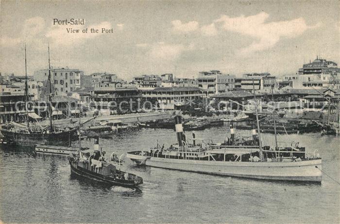 AK / Ansichtskarte Port_Said View of the Port Port_Said 0