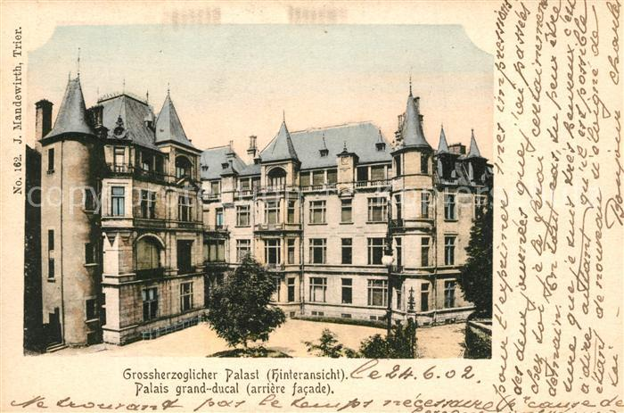 AK / Ansichtskarte Luxembourg_Luxemburg Grossherzoglicher Palast Palais Grand Ducal Luxembourg Luxemburg