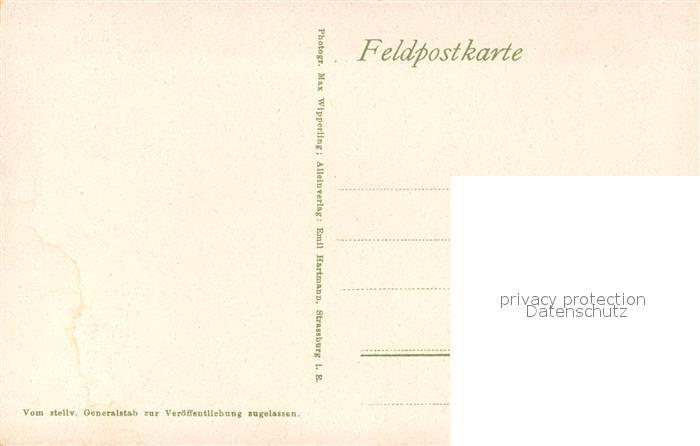 AK / Ansichtskarte Fossingen Westlicher Kriegsschauplatz 1. Weltkrieg Feldpost Fossingen 1